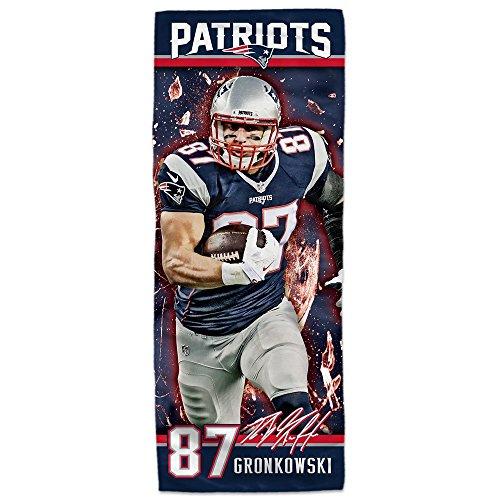 "Mission NFL Player EnduraCool Microfiber Towel, New England Patriots Rob Gronkowski, 12"" x 30"""