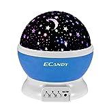 Ecandy 360 Degree Rotating 3 Mode Star Light Projector