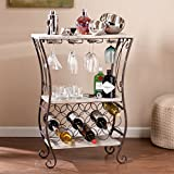 Upton Home Athens Wine Storage Table, Material : Iron, Metal Includes Our Exclusive Decorating eBook