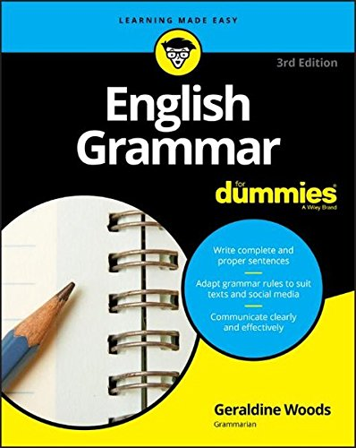 English Grammar For Dummies (For Dummies (Lifestyle)) cover