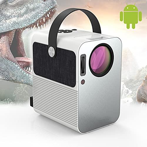 Seelumen Projector, 4 K, draagbaar, 6000 lumen, ondersteunt 1080p Full HD, thuisbioscoop 300 inch, Dolby Digital AC3…