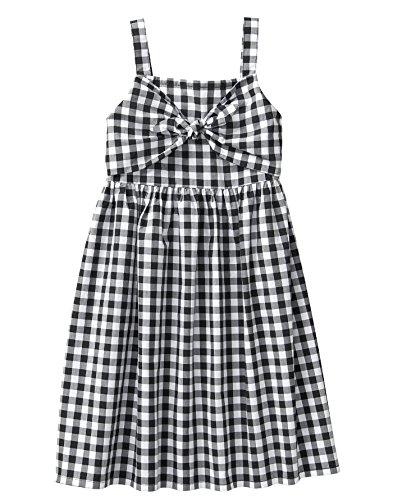 Crazy 8 Girls' Little Sleeveless Casual Woven Dress, Black/White Gingham tie, S -