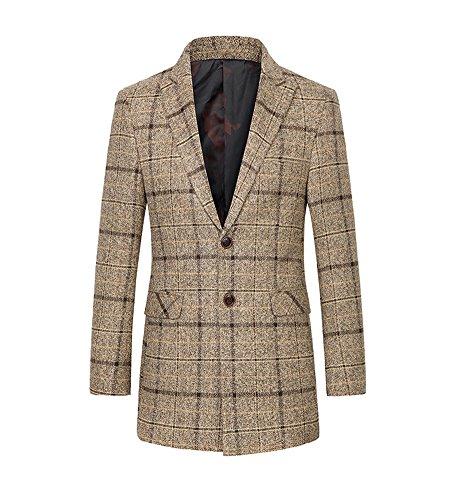Oncefirst Men's Leisure Wool-Blend Coat 36 Brown