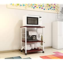 Soges 3-Tier Kitchen Baker's Rack Utility Microwave Oven Stand Storage Cart Workstation Shelf, W4-RCA