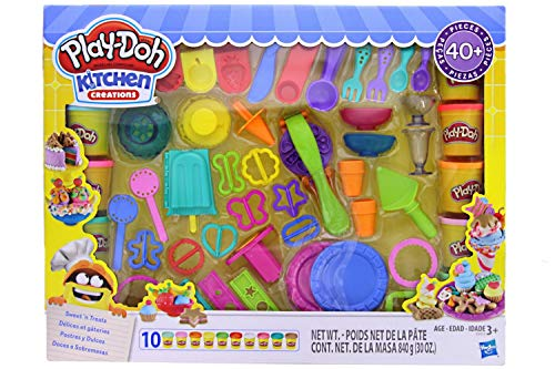 Play-Doh Kitchen Creations Ultimate Sweet 'n Treats Set - Create and Make Desserts with Play-Doh Kitchen Tools - 40+ Pieces & 10 Cans of Play-Doh