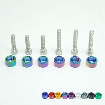 Juego de 6 arandelas de aluminio para disfraz, 6 mm, para ...