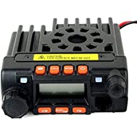 RADIOPLUS MINI-8900R 2PCs 25W Mini Mobile Radio Dual Band Mobile Radio with a fan(Pack of 2)