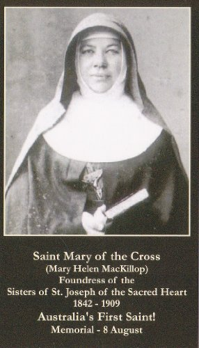 (Mary of the Cross Australia's 1st Saint Mary Helen MacKillop Holy Card Wallet Size)