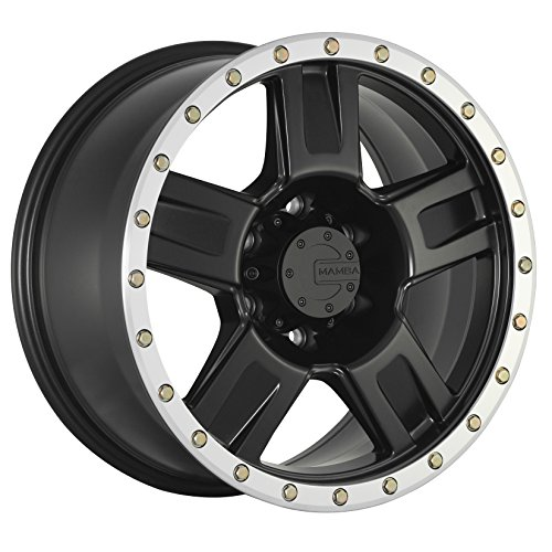 Mamba M18 Matte Black Wheel with Painted Finish and Machine Bead Lip (17 x 9. inches /6 x 139 mm, -12 mm Offset) -