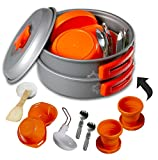 Gear4U: Best BPA-FREE Camping Cookware Set - Mess Kit - 13...