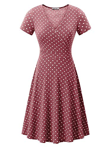 (MSBASIC Womens Polka Dot Dress Cute Dresses for Women Polka Dot-2 M)