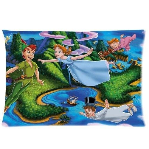 Custom Zippered Peter Pan Pillow Cases Cover 20x30inch two sides thv-88 (Peter Pan Pillowcase compare prices)