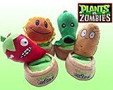 "Plants Vs Zombies Pvz Soft Plush Doll Toy Figure 1set(4pcs) Sunflower,peashooter,wall-nut,jalapeno Phone Holder 7.8"" New"