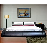 Greatime B1211EKBW New Arrival Platform Bed, Eastern King, Black and White
