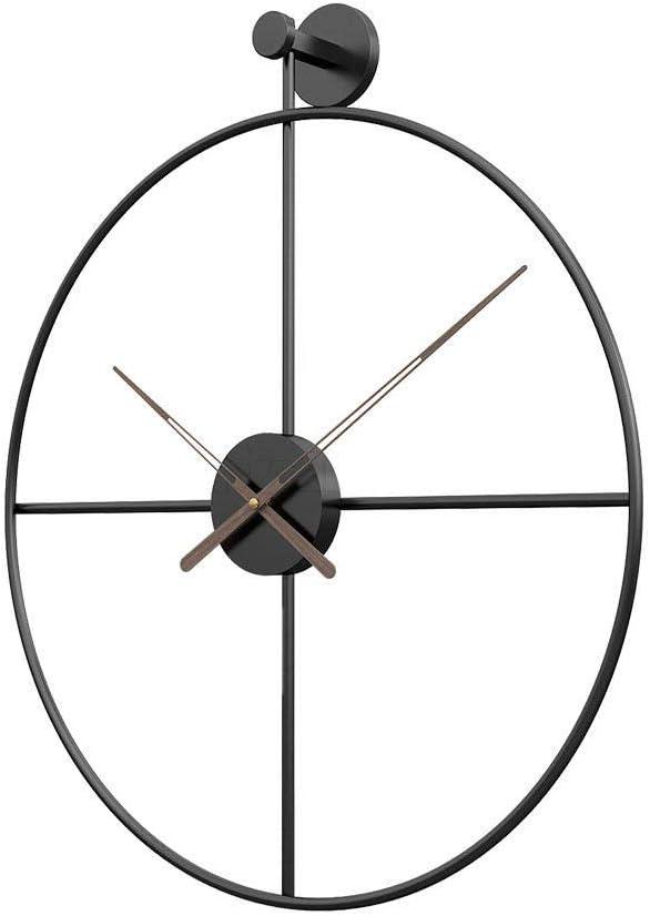 XLLJA Reloj de Pared Negro de Estilo Europeo en Hierro Forjado Silent Home Living Room Cafe, Bar, restaurant-80cm,Decorativo para Cocinas, Dormitorios, Oficinas, Sala
