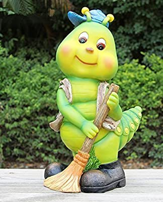 Diseño oruga 50016 – 1 Enano Decoración Jardín Enano de jardín figuras Decoración: Amazon.es: Jardín