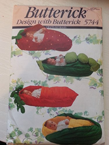 Baby Corn Bunting Costumes (Butterick 5744 Infant Buntings: Pea Pod, Corn, Strawberry, Carrot)