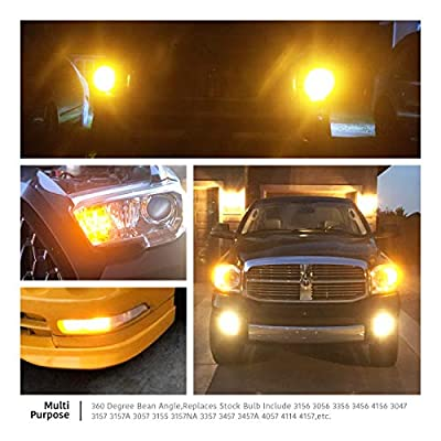 LUYED 2 X 900 Lumens Super Bright 3014 78-EX Chipsets 3056 3156 3057 3157 LED Bulbs with Projector for Turn Signal,Amber: Automotive