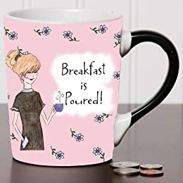 Breakfast Is Poured Coffee Mugs, Humor Coffee Cup, humorous Mug, Ceramic Mug, Custom Humor Gifts By Tumbleweed