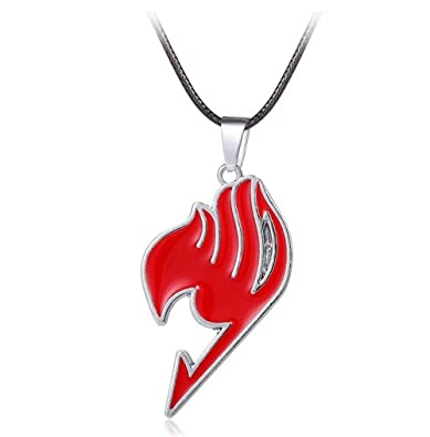 Amazon Generic Anime Fairy Tail Guild Logo Red Pendant Necklace