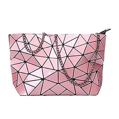 Mily Womens Holographic Laser Leather Envelope Clutch Handbag Purse