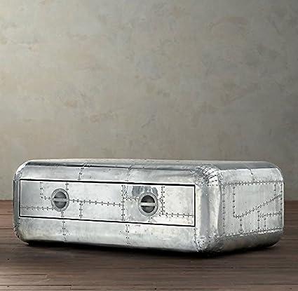 Beau NAUTICALMART Vintage Coffee Table Aluminum Trunk