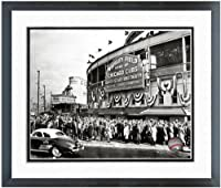 "Wrigley Field Chicago Cubs 1945 MLB Stadium Photo (Size: 12.5"" x 15.5"") Framed"