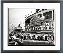 "MLB Wrigley Field Chicago Cubs 1945 Stadium Photo (Size: 12.5"" x 15.5"") Framed"