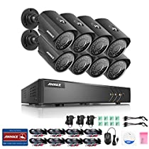 ANNKE 8CH HD-TVI 1080P Lite CCTV DVR with 8x 960P Indoor/Outdoor Weatherproof Security Cameras System with IR Night Vision LEDs, Email Alert with Images, NO HDD