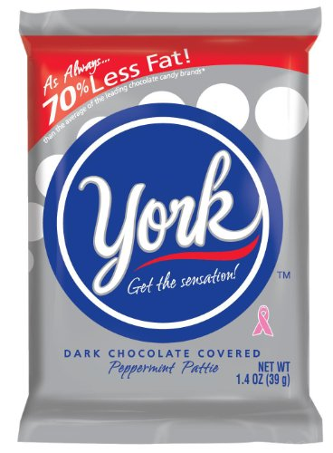 York Peppermint Patties Dark Chocolate Covered Mint Candy, 1.4 Ounce (Pack of (Chocolate Covered Peppermint Patties)