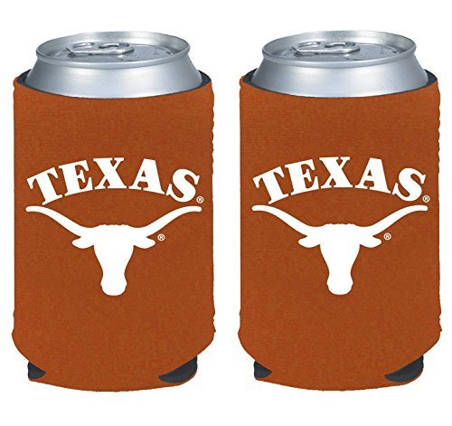 NCAA College 2014 Team Logo Color Can Kaddy Holder Cooler 2-Pack (Texas Longhorns)