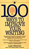 100 Ways to Improve Your Writing, Gary Provost, 0451627210