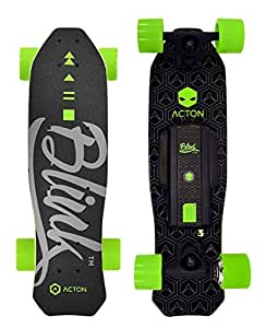 ACTON BLINK Lite | World's Lightest Electric Skateboard | Ride Up To 5 Miles On A Single Charge | 10 MPH Top Speed | With LED Lights | Bluetooth Remote Control Included