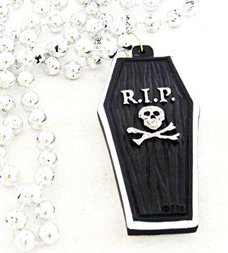 RIP Black Coffin Halloween Mardi Gras Bourbon Street Mardi Gras Beads New Orleans Cajun Creole Party ()