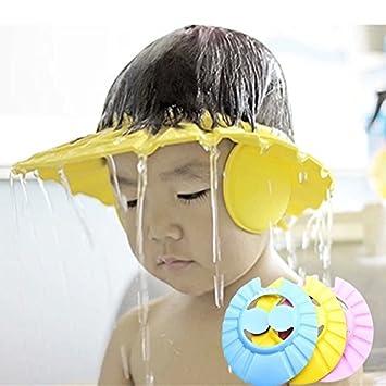 PinkfoxR Soft Very Comfortable Adjustable Baby Kids Children Shampoo Bath Bathing Shower Cap Visor Hat