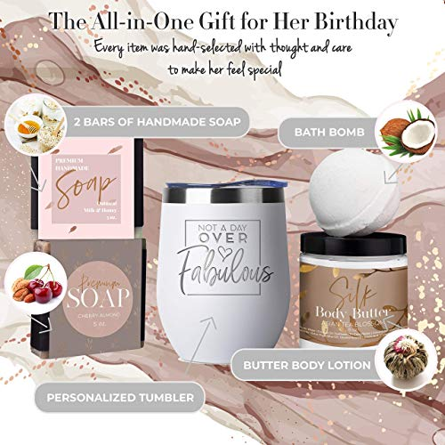 Birthday Gifts for Women – Best Relaxing Spa Gift Box Basket for Wife Mom Sister Girlfriend Best Friend Mother – Bday…