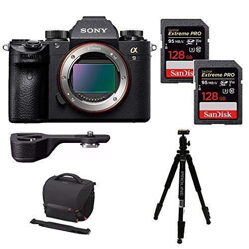 Sony a9 Full Frame Mirrorless Camera (Body) (ILCE9/B) w/Sony GPX1EM Grip Extension + 256GB Extreme PRO Bundle