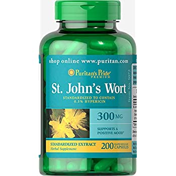 Puritans Pride St. Johns Wort Standardized Extract 300 mg-200 Capsules