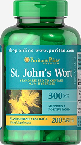 - Puritans Pride St. John's Wort Standardized Extract 300 Mg, 200 Count