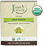 Cheap Just Jaivik 100% Organic Amla Powder – Certified Organic by OneCert Asia, 227 gms / 1/2 LB Pound / 08 Oz – Indian Gooseberry – Emblica Officinalis – (AN USDA Organic Certified Herb)