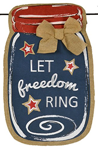 JEC Home Goods Let Freedom Ring USA Garden Flag For July 4,