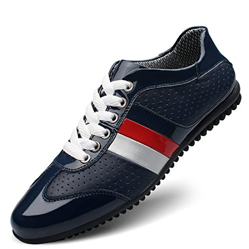 Minishion Boys Hombres Colorido Low-top Sintético Sport Brethable Sneakers Dark Blue