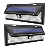 Balight Solar Wall Lights Motion Sensor Outdoor Wall Mount 66 Led Garden Lights Landscape Lighting Auto ON/OFF Nightlight Spotlight Security Lights for Garage Driveway Patio Yard (2 Pack)