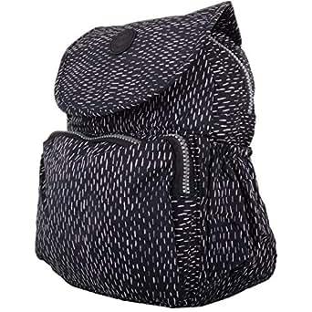 Womens Lightweight Medium Patterned Work/Travel Backpack/Rucksack - Black Fleck