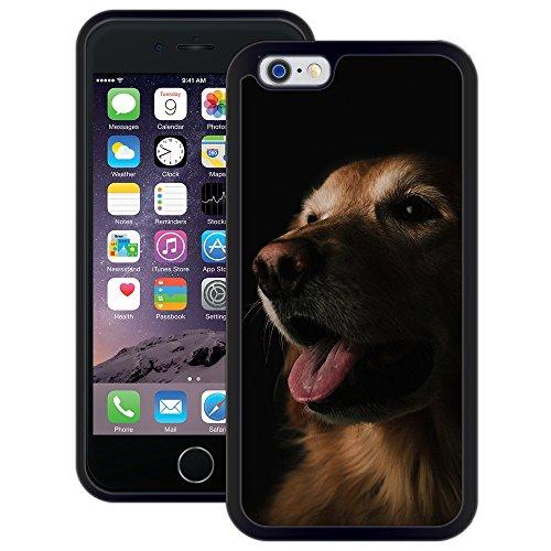 Labrador-Hund | Handgefertigt | iPhone 6 6s (4,7') | Schwarze Hülle