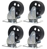Shop-Tek 4 Pack Large Steel Swivel Caster Wheel