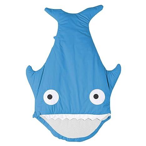 LCDY Saco De Dormir De Bebe Tiburón De Dibujos Animados con Manta Bebé Otoño E Invierno