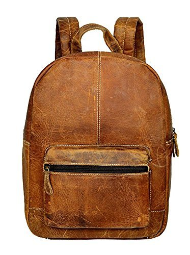 Genuine Leather Backpack Business Travel Daypack Fits 15.6