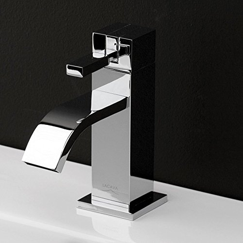 Deck-mount single-hole faucet featuring natural water flow with pop-up. ADA compliant. Water flow rate: 1 gpm pressure compensating (Lacava Deck)