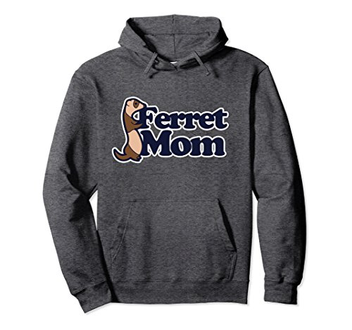 Unisex Ferret Mom pullover hoodies ferrets art hoodies ferret lover Medium Dark Heather
